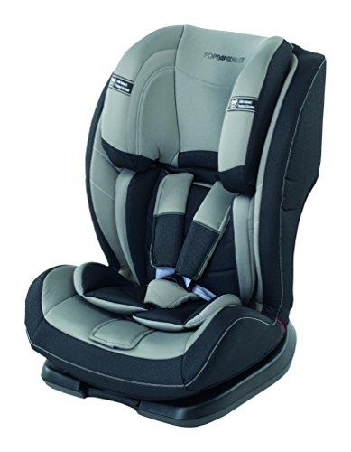 Foppapedretti Re-Klino Seggiolino Auto Senza Isofix, Gruppo 1/2/3 (9-36kg), per Bambini da 3 fino a 12 Anni, Grigio