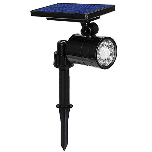 Luci Solari 8 LED 800LM Ultra Luminoso, Lampada Solare da Esterno con Sensore di Movimento,...
