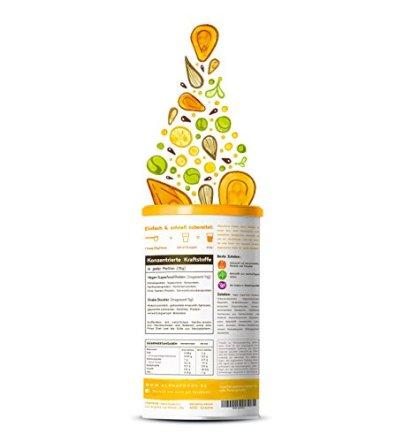 Vegan-Protein-Vanille-Reis-Hanf-Soja-Erbsen-Chia-Sonnenblumen-und-Krbiskernprotein-Kokosmilch-Superfoods-und-Verdauungsenzymen-600-Gramm-Pulver-mit-natrlichem-Vanillegeschmack