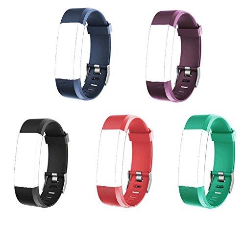 CaaWoo 5 Pezzi Polsini di Ricambio per Fitness Tracker ID115Plus HR