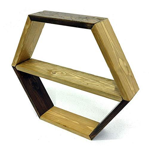 N. 1 Scaffale esagonale Ø 55 cm, profondità 10 cm mensola a nido d'ape a parete ...