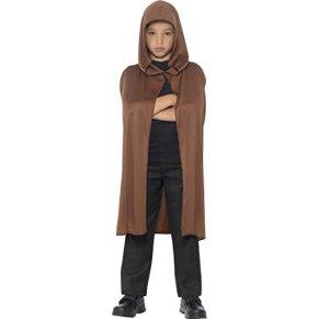 Cape de Jedi pour enfant brun Manteau Star Wars Moyen-Âge cape Halloween poncho Dracula soirée costumée accessoire déguisement de carnaval garçon