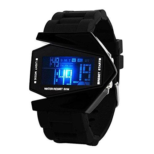 Aolvo creativo impermeabile orologio sportivo Cool orologi, elettronico digitale aereo a forma di...