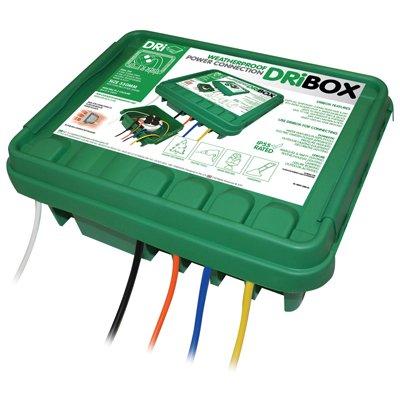 """Greenbrook db285g """"dribox"""" Impermeable Exterior POTENTE montaje conexión / Unión caja. ideal para : fogones,a Presión Arandelas,DESBROZADORAS,Césped Cortacéspedes,SETO Cúter,iluminación"""