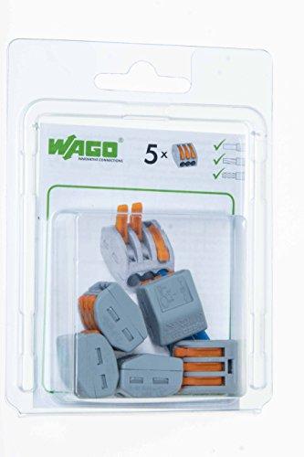 41GguMDpXaL [Bon Plan Domotique] Wago WAG51196507-15/222413 Sachet de 15 bornes 3 x 2,5 mm²