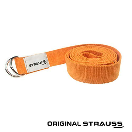 Strauss Yoga Belt, 8 Feet (Orange)