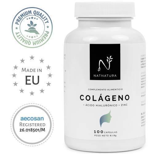 Collagene idrolizzato. Collagene con acido ialuronico + Vitamina C + Zinco. N. 1 del Collagene. Pelle sana, articolazioni forti. 100 capsule con ingredienti della massima purezza ed efficacia.