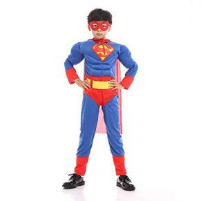 YANZZ Halloween Disfraz de Cosplay Infantil,Muscle Superman Disfraces de Fiesta de Carnaval A