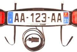 Mottez Plaque de signalisation pour porte vélo arrière Achat