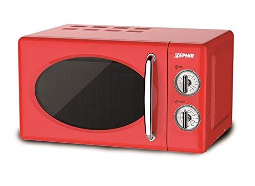Zephir Forno A Microonde Combinato Vintage Colore Rosso 2'' 20lt