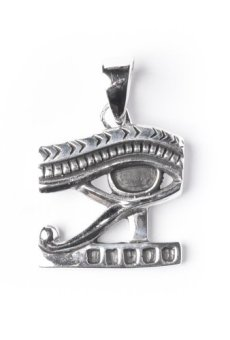 81stgeneration Colgante de Plata de Ley .925 Collar Mujeres Hombres Ojo de Horus de Egipto, 46   cm