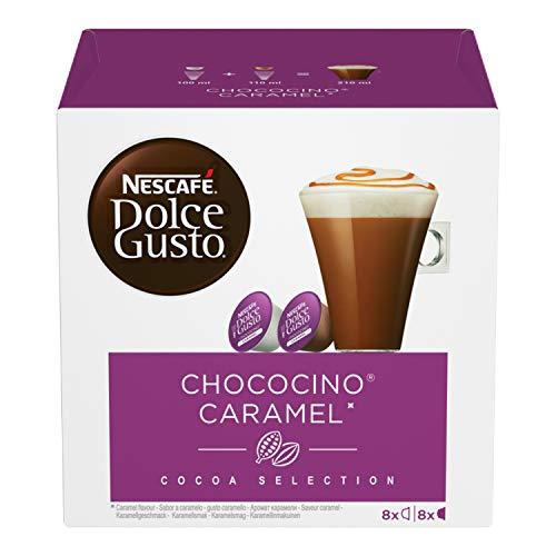 NESCAFÉ Dolce Gusto Chococino Caramel, Cioccolata al Caramello, 3 Confezioni da 16 Capsule (48 Capsule)