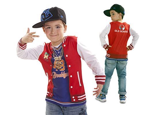 Disfraz Camiseta de Rapero Original de Carnaval para niño de 4-6 años de Microfibra - LOLAhome