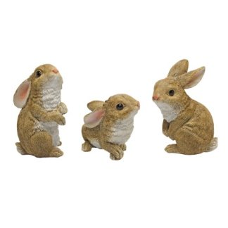 Design Toscano il coniglietto den, giardino coniglio statua–Set di 6