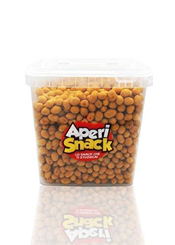 Aperisnack - AP04.002.03 – Arachidi Ricoperte Chili Secchiello da 2500gr. Snack Salati e Stuzzichini Ideali per l'Aperitivo e Le tue Feste