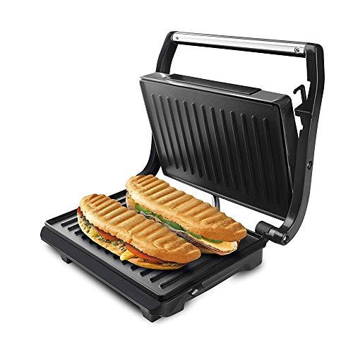 Taurus Grill & Toast Sandwichera, 700 W, Placas de Grill Antiadherentes, Color Negro