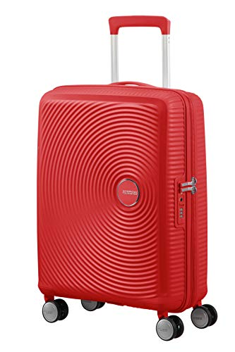 American Tourister Soundbox Spinner Small Expandable Bagaglio A Mano, 55 cm, 41 Liters, Rosso (Coral...