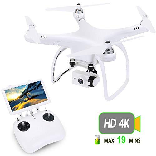 upair One 4K HD Camera Drone con schermo da 7pollici FPV, 5.8G FPV Monitor Streaming Video...