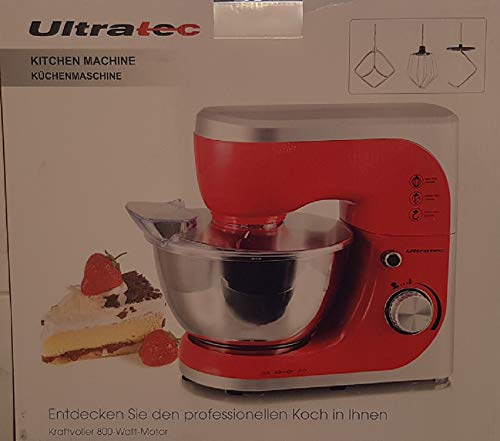 Summary - Robot da cucina con ciotola in acciaio inox, mescolatore/impastatrice con ciotola da 4,5...