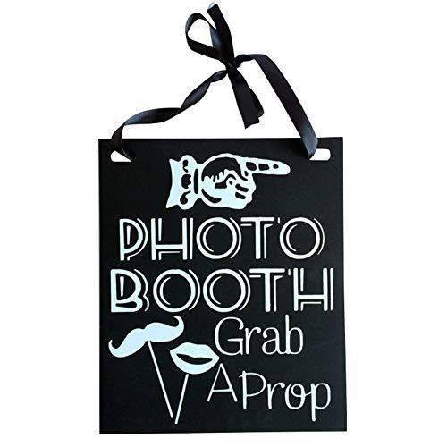 photo booth puntelli cartello in legno appeso lavagna lavagna wedding Decor forniture Zbtrade