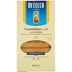 De Cecco Cannelloni Uovo 250 gr [Pacco da 5 Pezzi]