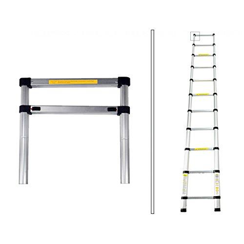 Todeco - Echelle Telescopique, Échelle Pliable - Charge maximale: 150 kg - Standards/Certifications: EN131-3,2 mètre(s), Sac de transport OFFERT, EN 131
