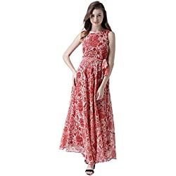 MsFQ Women's A-Line Maxi Dress (FDRF501215-red-XXL)