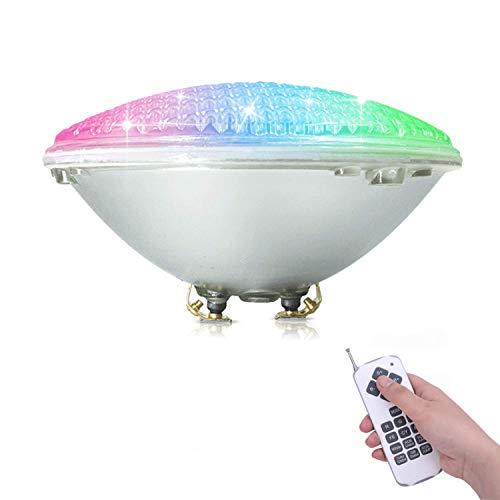 COOLWEST RGBW Schwimmbadleuchten PAR56 36W LED Poolbeleuchtung Einhänge Unterwasser ersatz 250W Halogen Scheinwerfer DC/AC 12V [MEHRWEG]