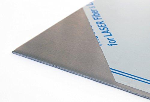1mm taglio lamiera in acciaio inox V2A Direzione a scelta von100X 100fino a 1000X 1000mm...