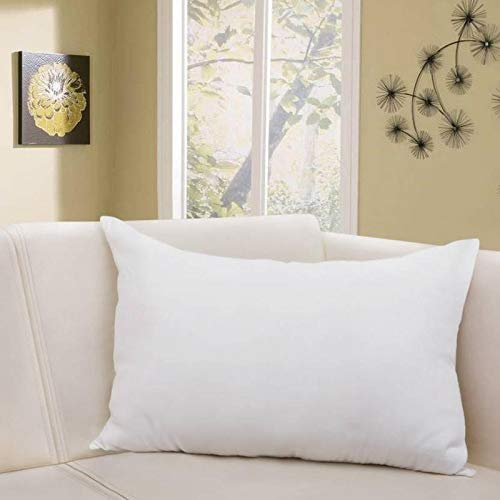 Blue Horse 5 Star Hotel Feel Hollow Fiber Fluffy & Soft 16x24'Inch 1 Piece Pillow - Solid White