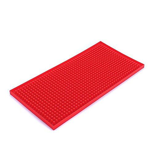 Rubber bar Service Mat, tappetino scolapiatti in silicone, antibatterico, lavabile in lavastoviglie,...