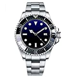 Tickwatch Parnis 47mm Deep Sea Dweller ceremic Bezel Blue Black dial Automatic Mechanical Men's Watch