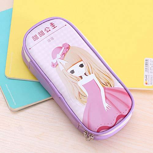 AQDFD AstuccioSimpatico astuccio per le matite per ragazze Big Hero Flower Girl Portamatite Borsa da...