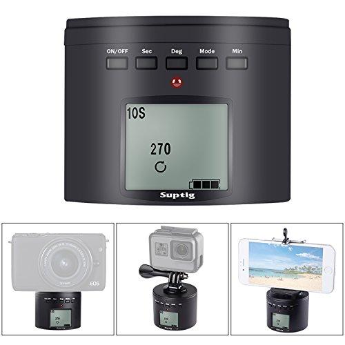 Suptig - Soporte de trípode para cámara de fotos (eléctrico, 360 grados, para cámara de acción digital iPhone Samrtphone)