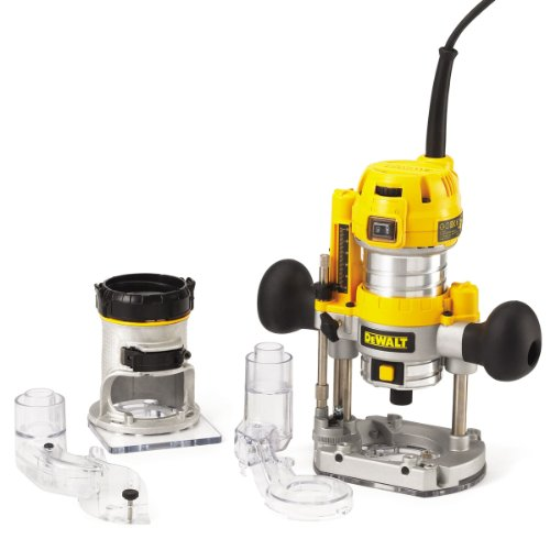 The Dewalt 230V 1/4-inch Combination Plunge/ Fixed Base Router is primarily designed to provide versatility in cutting as it comes with both a fixed and plunge base. A fixed base usually keeps the position of the router bit constant and the plunge base comes in handy when the depth cut needs adjustment, thus having 2-in-1 is of great benefit.