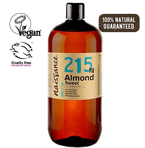 Naissance Huile d'Amande Douce (n° 215) - 1 litre - 100% naturelle, végan, sans OGM - parfaite pour les massages, le soin des cheveux et de la peau