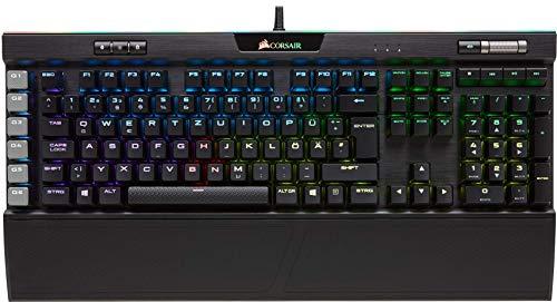 Corsair K95 RGB Platinum Mechanische Gaming Tastatur (Cherry MX Speed: Schnell und Hochpräzise, Multi-Color RGB Beleuchtung, Qwertz) schwarz