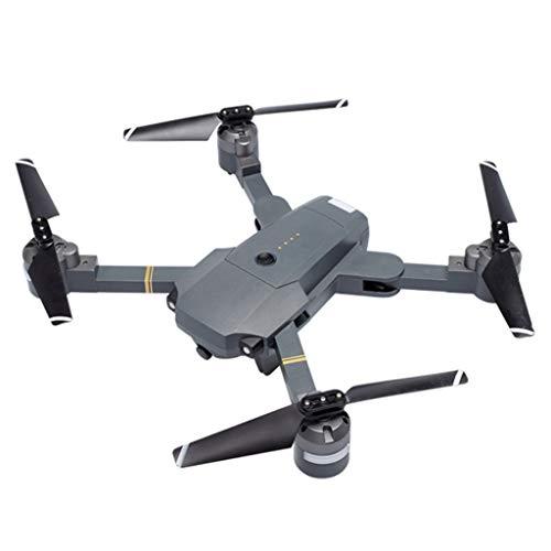feiXIANG Pieghevole Drone Quadricottero con Telecamera con WiFi HD Quadcopter Mobile Controllo Grandangolare Selfie Drone Camera Seguimi modalità Attesa in Altitudine (Taglia Unica, Nero)