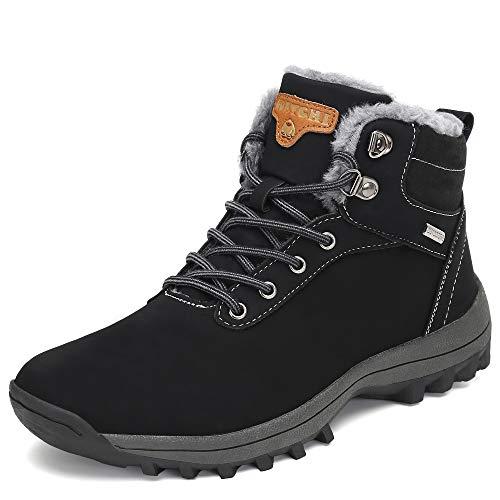 a39ee7aa0cd91 Pastaza Hombre Mujer Botas de Nieve Senderismo Impermeables Deportes  Trekking Zapatos Invierno Forro Piel Sneakers Negro