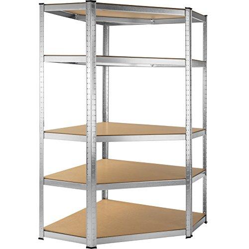 TecTake Scaffale da officina armadio magazzino garage - modelli differenti - (Scaffale angolare 5...