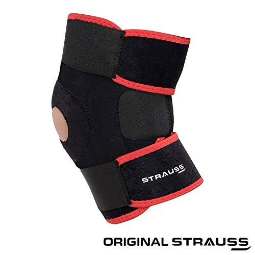 Strauss Adjustable Knee Support Patella, Free Size (Black)