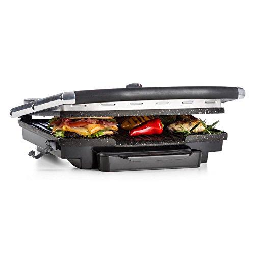 Klarstein Edelstein • Grill multifonction • Presse à paninis • Température réglable en continu jusqu'à 240 °C • 2000W • Inox