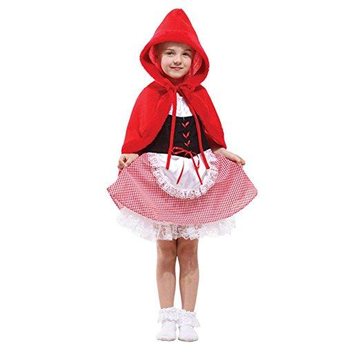 Tongchou Disfraz de Caperucita Roja para Ninas Carnaval Fiesta Halloween M