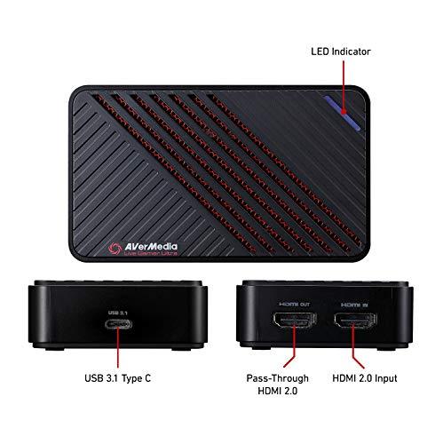 AVerMedia Live Gamer Ultra, Boîtier d'Acquisition Vidéo et de Streaming USB3.1, Pass-Through 4Kp60 HDR, Très Faible Latence, Enregistre jusq... 24