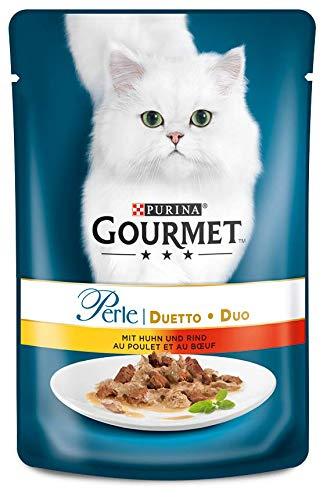 Purina GOURMET Perle: Katzennassfutter, hochwertiges Katzenfutter für...