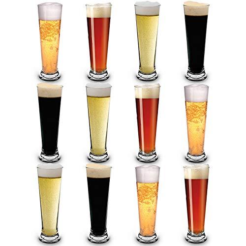 RB Infrangibile Bicchieri da Birra Pilsner Nucleato Premium 30cl, Set di 12