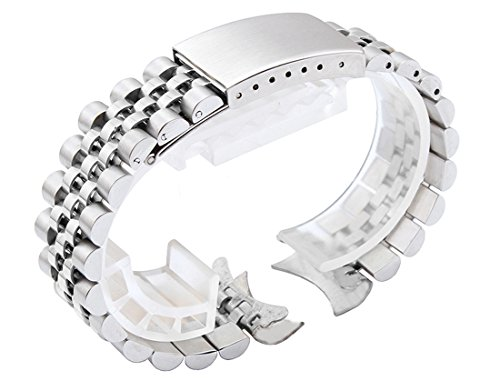 19mm Solid Stainless Steel Oyster Style Replacement Bracelet For Vintage Watches
