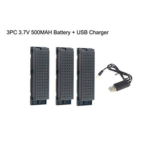 Familizo-giocattolo Fami-3PC 3.7 V 500MAH Lipo Batteria per Eachine E56 JJRC H47 Holy Stone HS160 RC...