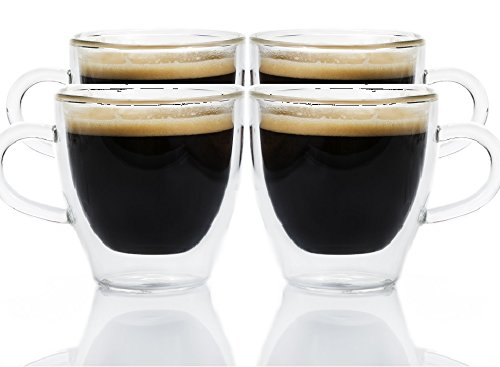 Maxxo Bicchieri da caffè 'Ristretto' 4x 80 ml Tazzine a Doppia Parete con Isolamento Termico di...