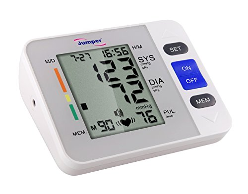 Portable Reliable Digital Upper Arm Blood Pressure Monitor - One Touch Bottom Easy Operation by...